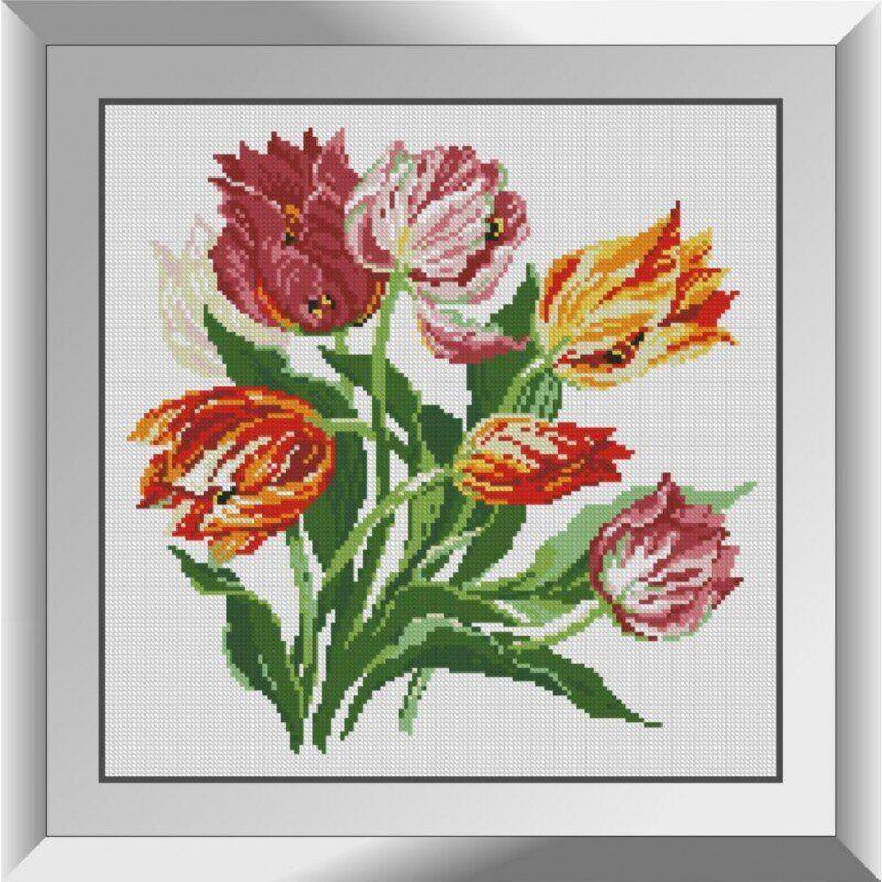 31127 Весенние тюльпаны Набор алмазной живописи