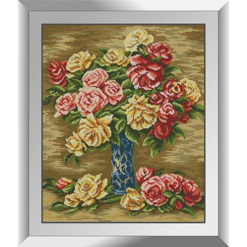 31139 Розы в вазе. Ренуар Набор алмазной живописи