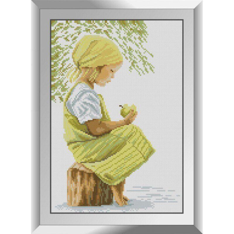 31144 Девочка с яблоком Набор алмазной живописи