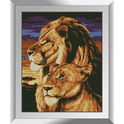 31150 Лев і левиця Набір алмазної живопису, фото 2