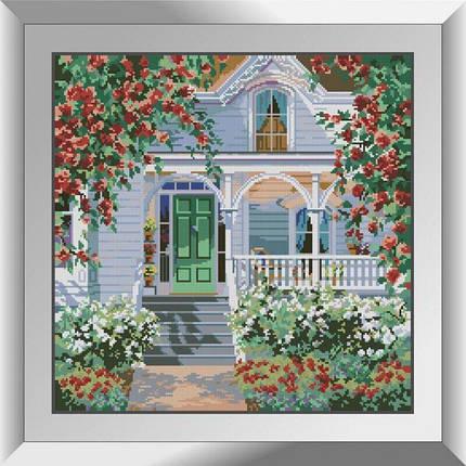 31151 Коттедж в красных розах Набор алмазной живописи, фото 2