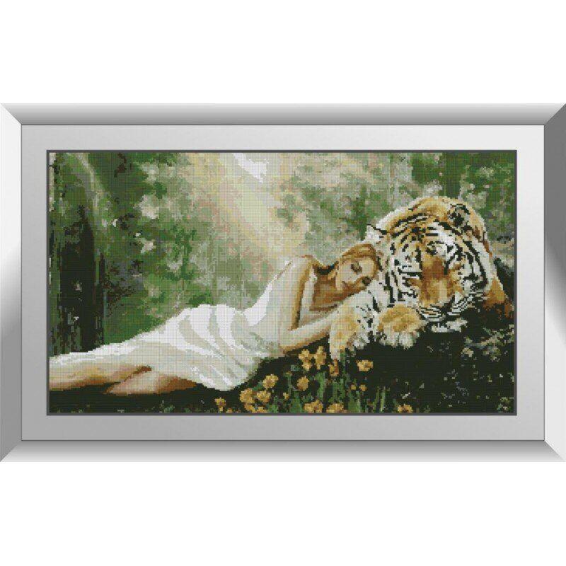 31168 Девушка с тигром Набор алмазной живописи