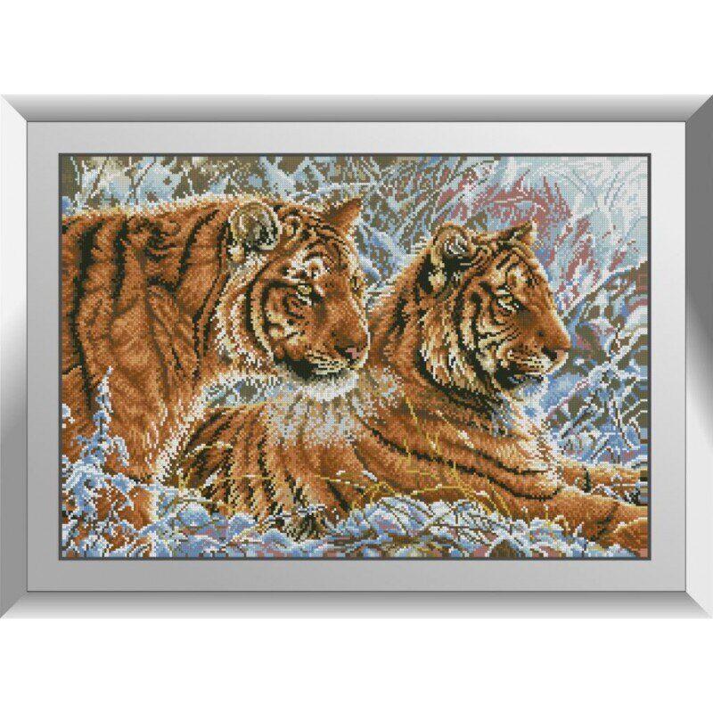31175 Пара тигров Набор алмазной живописи