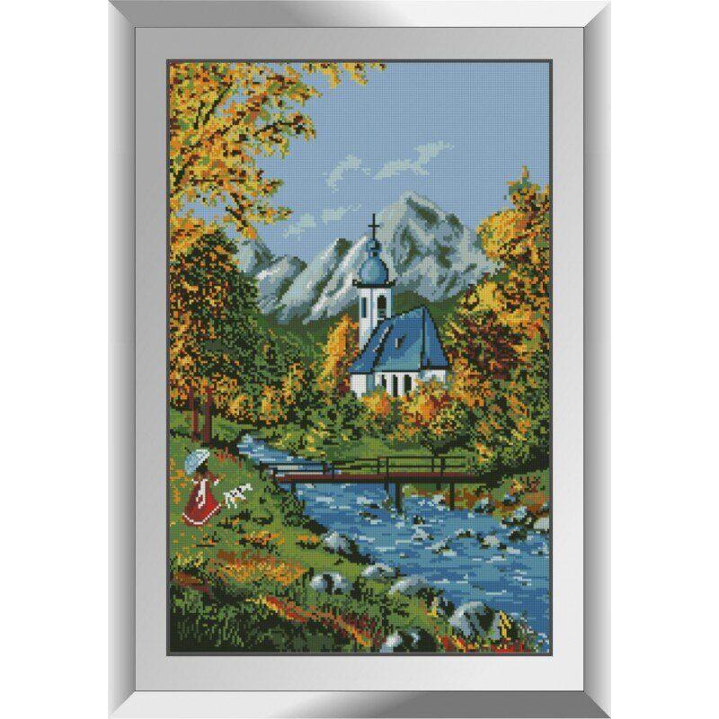 31206 Церковь в горах Набор алмазной живописи