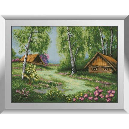 31213 Весенние домики Набор алмазной живописи, фото 2