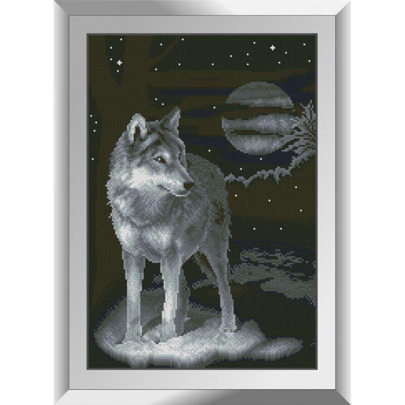 31232 Ночной волк Набор алмазной живописи