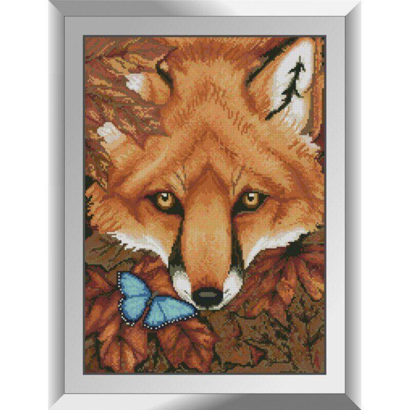 31241 Осенняя лиса Набор алмазной живописи