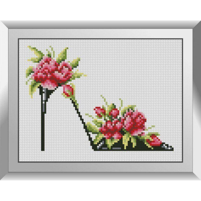 31243 Туфелька с розами Набор алмазной живописи