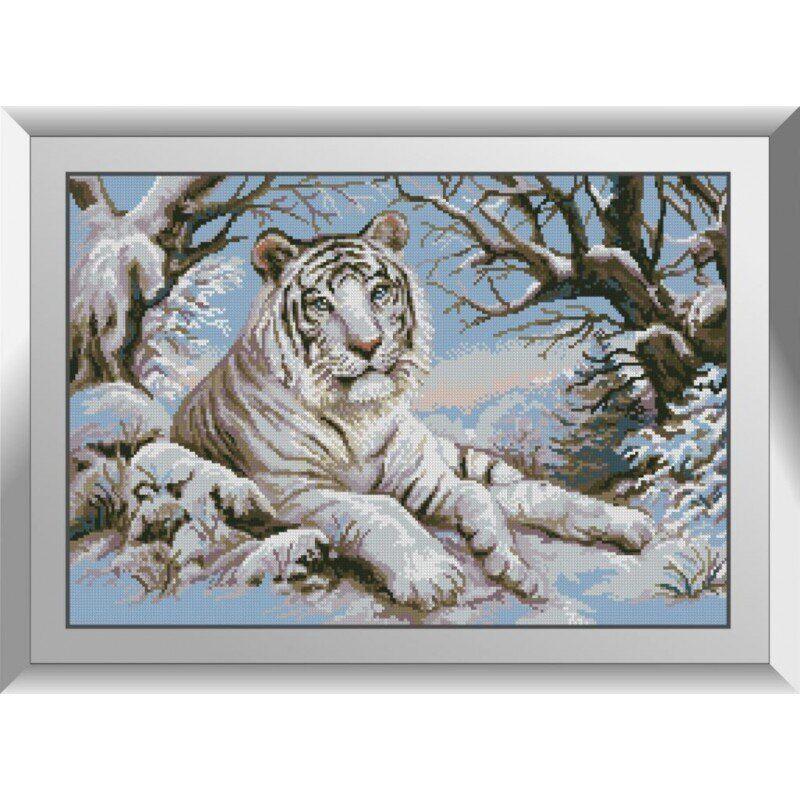 31265 Тигр в снегу Набор алмазной живописи