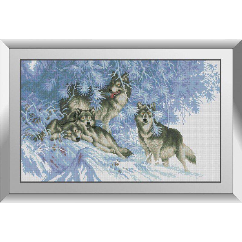 31267 В зимнем лесу. Волки Набор алмазной живописи