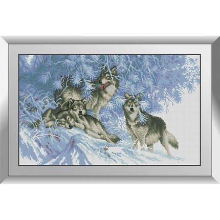31267 В зимнем лесу. Волки Набор алмазной живописи, фото 2