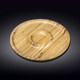Блюдо Wilmax Bamboo круглое 35,5 см - 2 секции 771049 WL