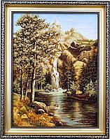 Картина із бурштину Природа, водоспад (30 x 40 см) BK0009
