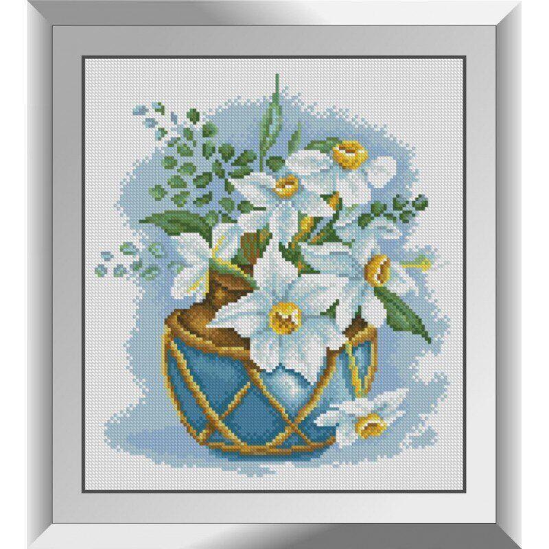 31275 Нарциссы в вазе Набор алмазной живописи