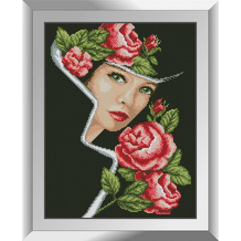31294 Портрет с розами Набор алмазной живописи