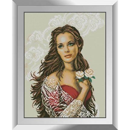 31297 Девушка с розами Набор алмазной живописи, фото 2