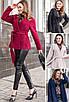 Короткое кашемировое женское пальто, черный, бежевый, темно-синий, бордовый, 42/44/46/48, фото 4