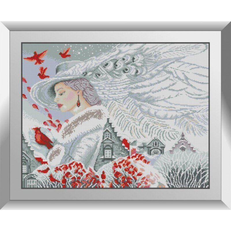 31308 Девушка-зима Набор алмазной живописи