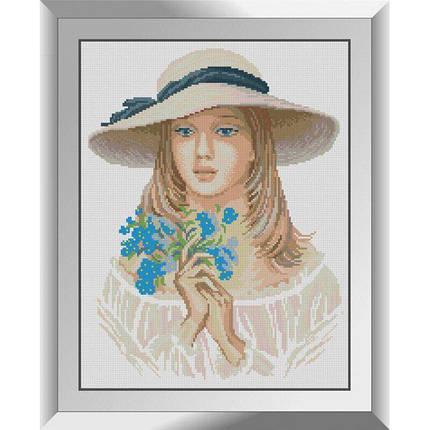 31322 Девушка с незабудками Набор алмазной живописи, фото 2