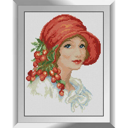 31327 Красная шляпка Набор алмазной живописи, фото 2