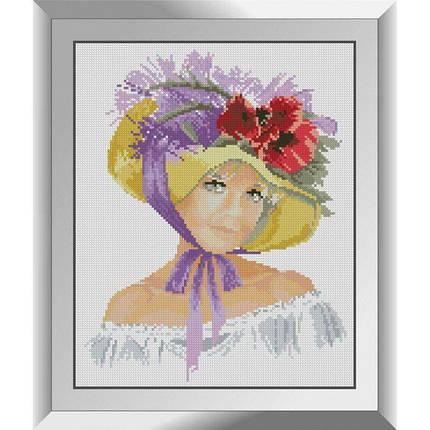31330 Шляпка с маками Набор алмазной живописи, фото 2