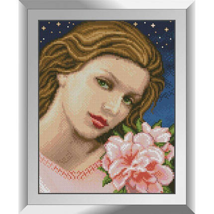 31331 Девушка с азалией Набор алмазной живописи, фото 2