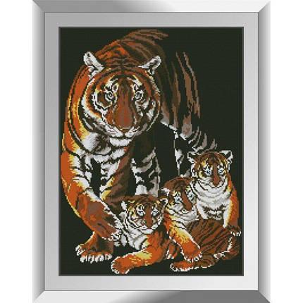 31349 Тигрята с мамой Набор алмазной живописи, фото 2