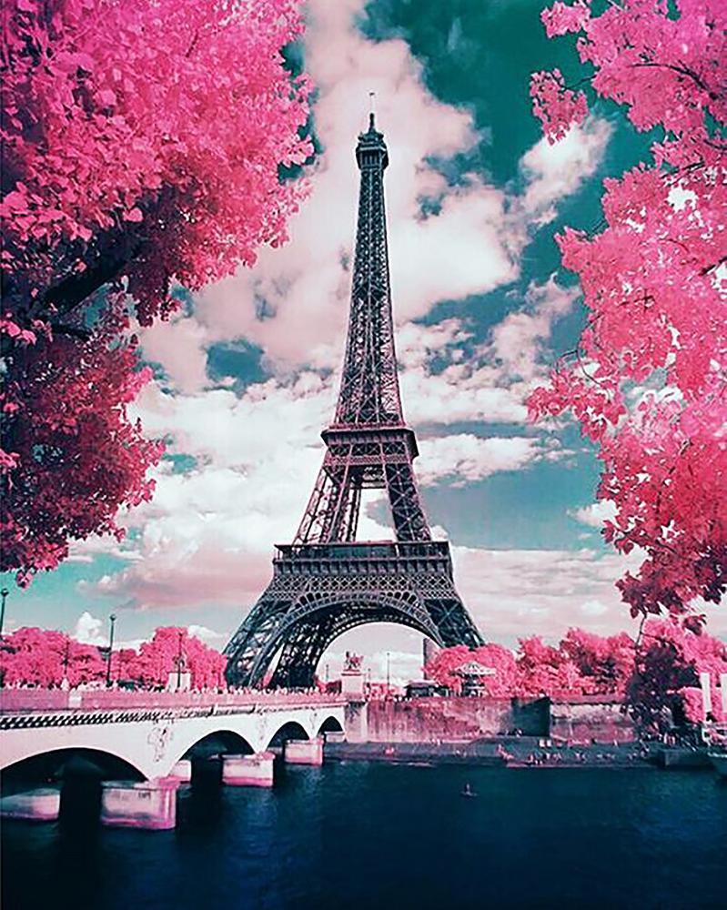 КДИ-0886 Набор алмазной вышивки Романтика весеннего Парижа