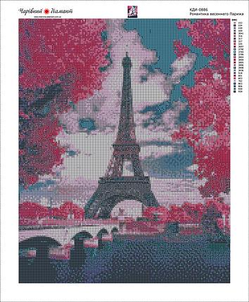КДИ-0886 Набор алмазной вышивки Романтика весеннего Парижа, фото 2
