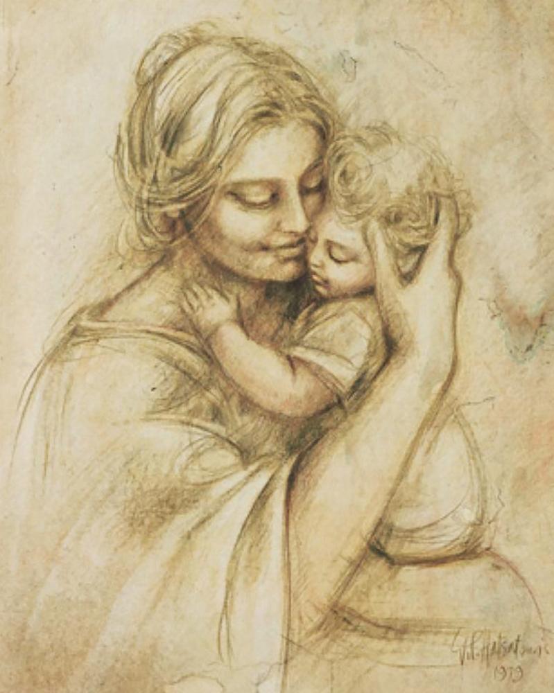КДИ-0890 Набор алмазной вышивки Счастливое материнство