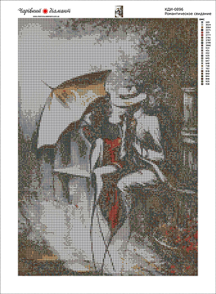 КДИ-0896 Набор алмазной вышивки Романтическое свидание-2, фото 2