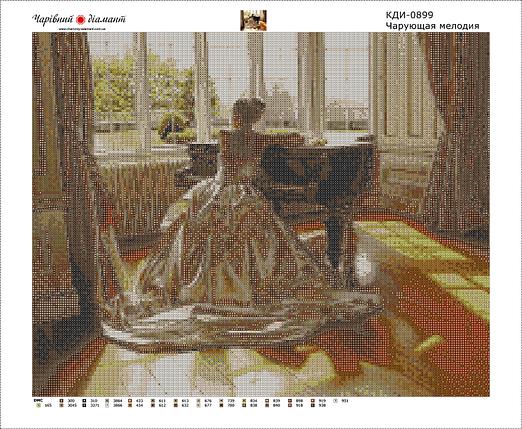 КДИ-0899 Набор алмазной вышивки Чарующая мелодия, фото 2