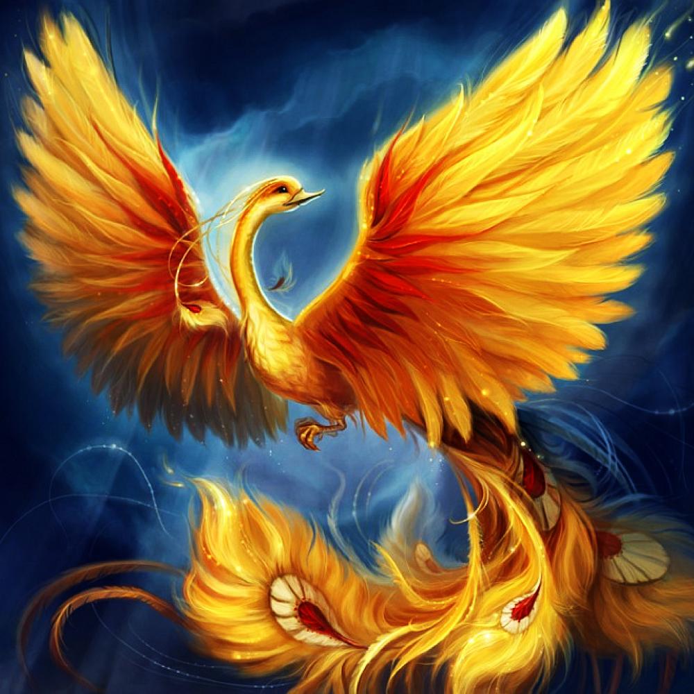КДИ-0905 Набор алмазной вышивки Птица Феникс - символ возрождения