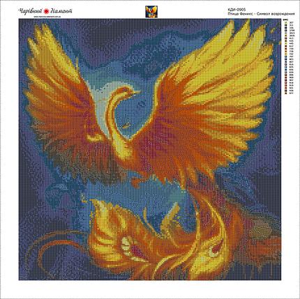 КДИ-0905 Набор алмазной вышивки Птица Феникс - символ возрождения, фото 2