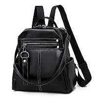 Рюкзак сумка женский городской стильный. Трансформер  (черный)
