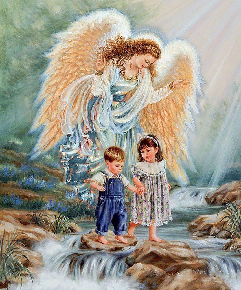 КДИ-0937 Набор алмазной вышивки Ангел – детей Хранитель
