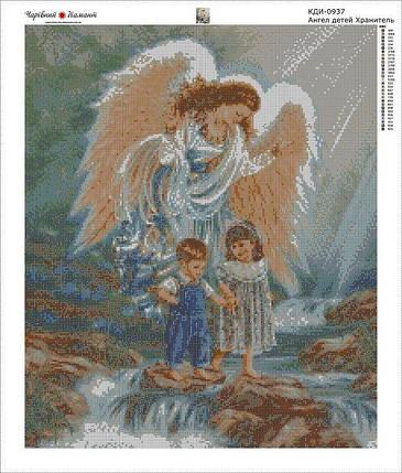 КДИ-0937 Набор алмазной вышивки Ангел – детей Хранитель, фото 2