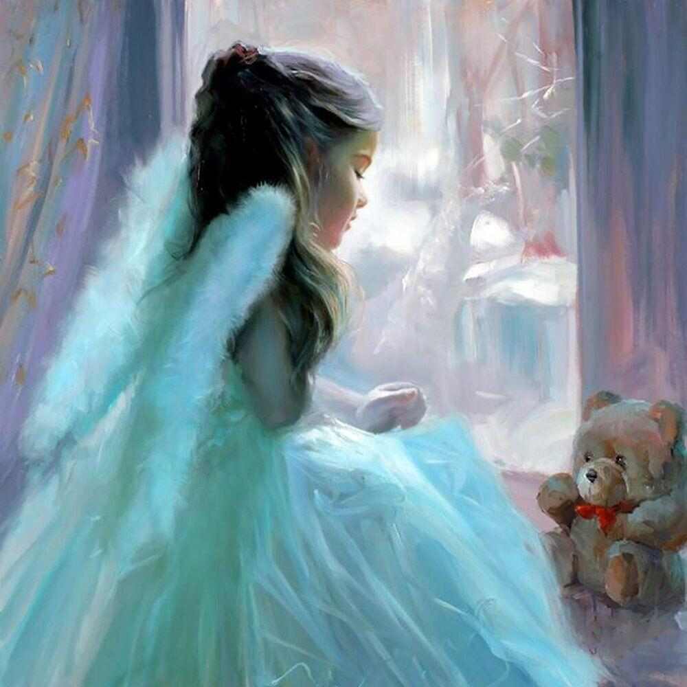 КДИ-0938 Набор алмазной вышивки Милый Ангелочек-3