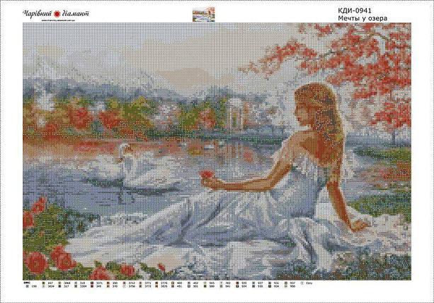 КДИ-0941 Набор алмазной вышивки Мечты у озера, фото 2