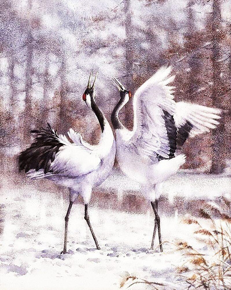 КДИ-0947 Набор алмазной вышивки Танец журавлей