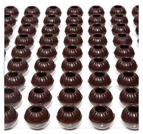 Раковина из черного шоколада для трюфеля 126 шт, Barbara Luijckx