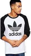 Свитшот реглан adidas (Premium-class) черный с белым