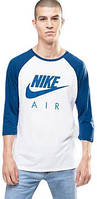 Свитшот реглан Nike (Premium-class) белый с синим