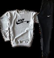 Трикотажный костюм Nike (Найк) черный с серым