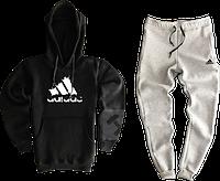 Трикотажный костюм adidas (Адидас) черный с серым