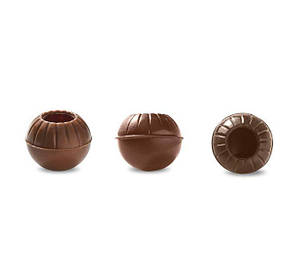 Раковина из молочного шоколада для трюфеля 3 шт, Barbara Luijckx