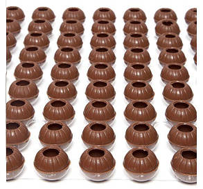Раковина из молочного шоколада для трюфеля 126 шт, Barbara Luijckx