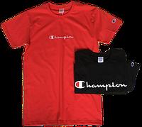 Мужские футболки Champion (ориг.бирка и качество) красная и черная