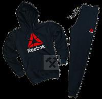 Трикотажный спортивный костюм Reebok (premium-class) черный