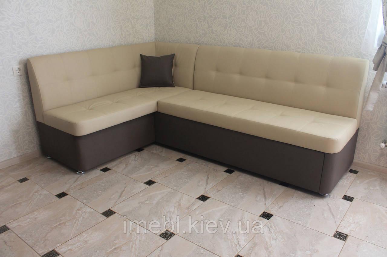 Раскладной кухонный угловой диванчик (Латте)